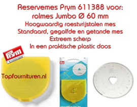 Prym 611388 reservemes extra groot 60 mm