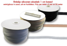 Siliconenelastiek (antislip) 1cm breed