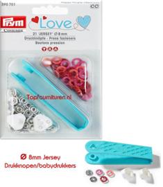 Drukknopen/babydrukkers Prym 390701 Love Zalmroze