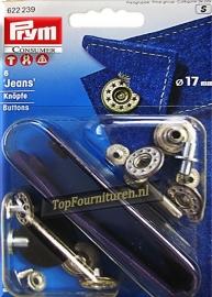 Jeans inslagknopen met pons Prym 622238/622239