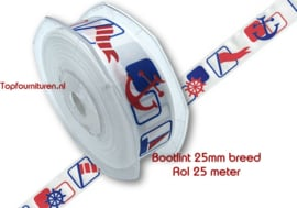 Bootlint per rol 25 meter 2.5cm breed
