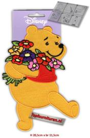 XL Applicatie Pooh met bloemen