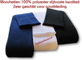 Manchetten 100% polyester per meter
