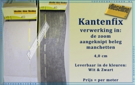 Kantenfix Vlieseline 4.0 cm zwart & Wit