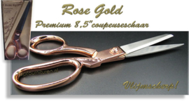 Premium Rose Goldschaar 8.5""