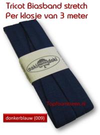 Tricot Biaisband Jersey donkerblauw