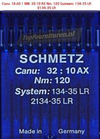 Canu: 18:60 1 NM: 32:10 AX Nm: 120 Systeem: 134-35 LR 2134-35 LR