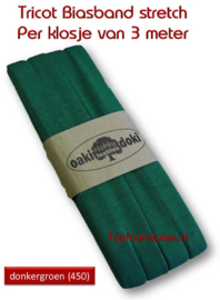 Tricot Biaisband Jersey donkergroen