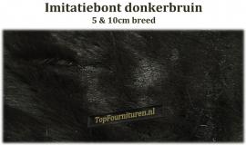 Imitatiebont donkerbruin 5 & 10cm breed