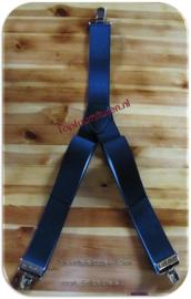 Bretels zwart 4.5cm breed elastiek