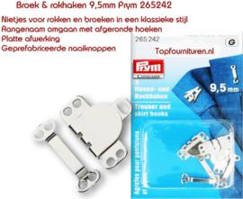 Broek & rokhaken 9.5mm zilverkleur 265242 (G)