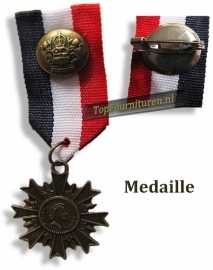 Medaille blauw wit rood