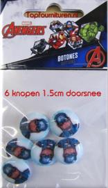 Avengers 6 knopen 1.5cm