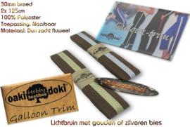 Sierband Galloon-Trim hoofdkleur lichtbruin
