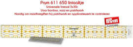 Universele coupeuse liniaal 3 x 30 cm van PRYM 611650