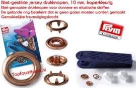 Jersey drukknopen koper 10 mm incl. stempel Prym 390119