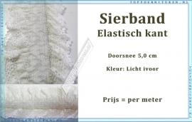 (SB110) Sierband elastisch kant licht ivoor