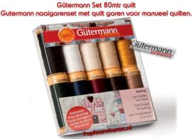 Gutermann naaigarenset met quilt garen voor manueel quilten