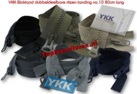 Bloktandritsen dubbeldeelbaar no.10 YKK