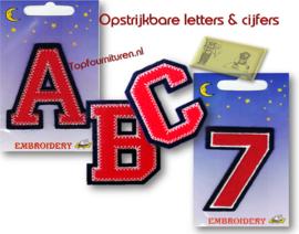 Cijfers & letters opstrijkbaar