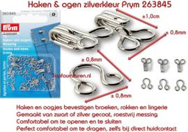 Haken en ogen zilverkleur No. 2 Prym 263845 (G)
