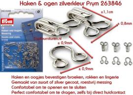 Haken en ogen zilverkleur No. 3 Prym 263846 / 263851 (G)