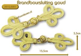 Brandernburgers-sluiting goud / zilver 15.5x5.5