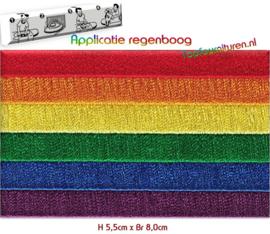 Regenboog applicatie opstrijkbaar