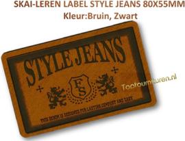 Skai-leren label (63970-01)