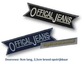 Applicatie Offical Jeans blauw of zwart