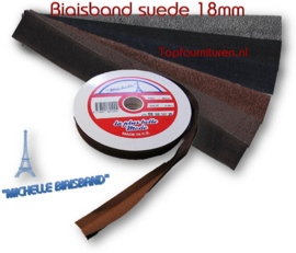Biaisband suede 18mm