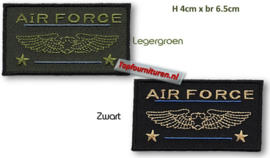 Air Force Applicaties in zwart en legergroen