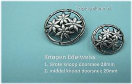 Knopen Edelweiss (bolle uitvoering)