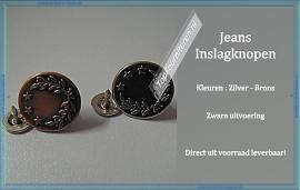 Jeans Inslagknopen Zilver of Brons  per 5 Stuks