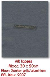 Viltlapje donkergrijs/aluminium
