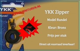 Ritstrekker brons YKK 0077524