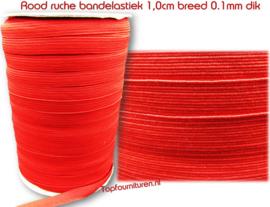 Rood bandelastiek 1.0cm breed
