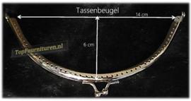Tassenbeugel/frame rond zilver 14cm