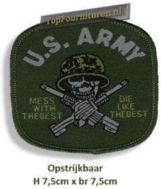 US ARMY opstrijkbaar