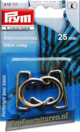 Bikinisluiting metaal 25mm
