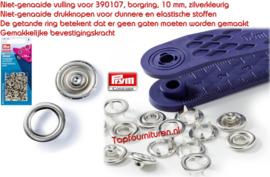 Prym drukknopen (babydrukkers) 10mm zilver navulling (390106)