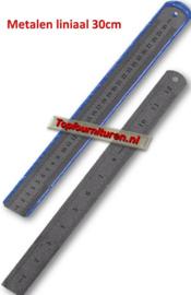 Metalen liniaal 30cm / 12 inch RVS
