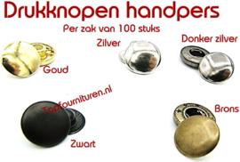 Drukknopen voor handpers 15 & 17mm