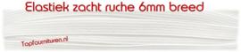 6mm soepel & zacht wit elastiek per 10 meter.
