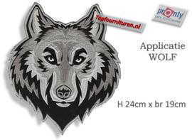 XXL Applicatie Wolf opstrijkbaar
