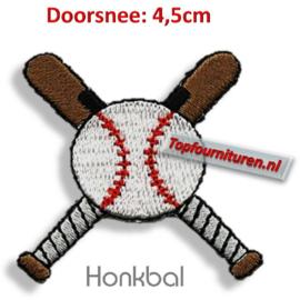 Applicatie honkbal opstrijkbaar.