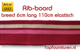 Rib-Boord rood-roze-wit (1557)