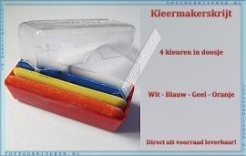 Kleermakerskrijt vier kleuren in doosje