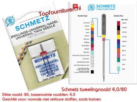 Schmetz Universeel tweelingnaald 4.0/80