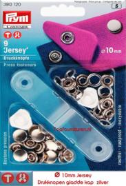Drukknopen Jersey 10mm zilver Prym 390120